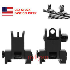US Metal Flip Up Front&Rear QD Rapid Transition BUIS Iron Sight Set 4 Rifle Hunt