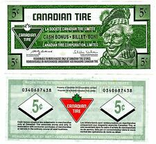 CANADA Billet 5 CENTS 2009 CANADIAN TIRE  UNC NEUF