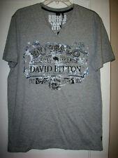Buffalo David Bitton Neditor | MENS S/S  V-NECK GRAY  T- SHIRT SIZE  L | NEW