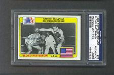 Floyd Patterson signed 1983 Topps card psa slabbed