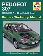 Haynes Manual Peugeot 307 Diesel HDi 1.4 2.0 1.6 Petrol