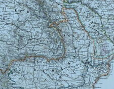 1875 MAP EUROPE SERBIA DALMATIA WALLACHIA BULGARIA RUMANIA ODESSA ENVIRONS