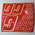 PINK CHROME w/White #9's Decal Sticker Sheet DEFECTS  1/8-1/10-1/12 RC Mo BoxD