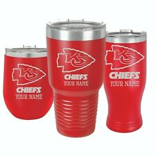 Kansas City Chiefs Personalized Custom Thermal Football Mug, 30oz & 12oz