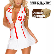 Ladies naughty Nurse Costume Hen outfit role play fancy dress  sexy BRAND NEW UK