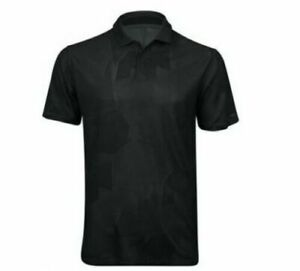 Nike TW TIGER WOODS Golf Polo Shirt Size LARGE Black/Gray Dri Fit CT3801 $85