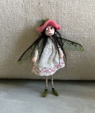 Charming Handmade OOAK Thread Fairy Posable Pixie Doll By Dinky Darlings #2
