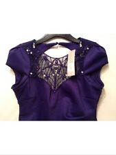 Bnwt🌹Lipsy🌹Size 8 Purple Necklace Embellished Dress Evening Going Out New £58