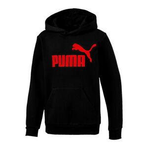 Puma Men's Pullover Hoodie Red logo