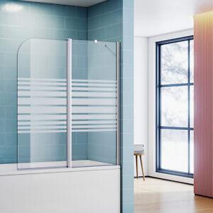 Badewannenaufsatz 2teilig Duschwand mit Seitenteil für Badewanne Duschkabine New