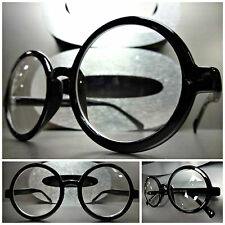 New VINTAGE RETRO WALDO PROFESSOR Style Clear Lens EYE GLASSES Round Black Frame