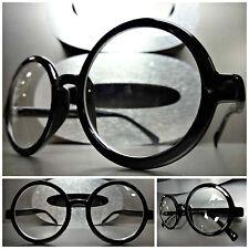 Men VINTAGE RETRO WALDO PROFESSOR Style Clear Lens EYE GLASSES Round Black Frame