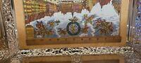 Vtg. E Otto Schmidt Lebkuchen und Honig Large Hinged Lid Tin Box, Sm Tin & Pic.