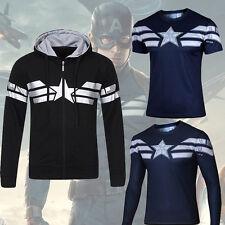 Captain America El Invierno soldado Top Hombre Camisas Camiseta/