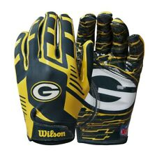 Green Bay Packers Youth NFL Stretch Fit Receivers Gloves
