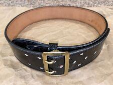 Dutyman Police Military Leather Duty Belt Law Enforcement High Gloss Brass 34