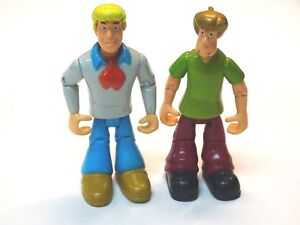 "Thinkway Scooby Doo Chunky Shaggy & Fred Action Figures 4"" tall"