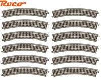 Roco H0 61123-S gebogenes Gleis R3 geoLine (12 Stück) - NEU