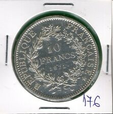 France 10 francs hercules  1971  .g.  TOP QUALITY  super coin - silber silver