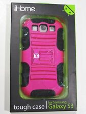 iHome Tough - Specialty Tough Case for Samsung Galaxy S3 PINK / BLACK with Stand