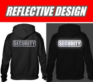 Security hoodie, REFLECTIVE LOGO, Party bouncer hoodie, Security guard hoodie