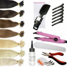 Starter Set 76 Teile Bonding Haarverlängerung Echthaar Strähnen Hair Extensions