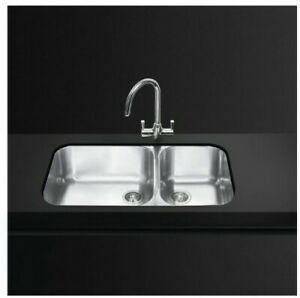 Smeg 34.2L - Stainless Steel double bowl Kitchen Sink Italian made twin sink
