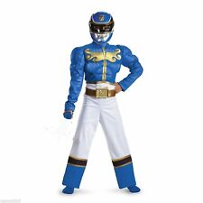 Power Rangers Size 4 6 Small Megaforce Blue Ranger Muscle Child Costume New