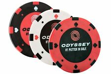 Odyssey Golf Poker Chip Ball Marker - Pack of 3