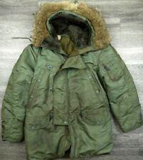 VINTAGE 60s N3B HOODED PARKA JACKET COAT SNORKEL MILITARY REAL FUR HOOD USAF