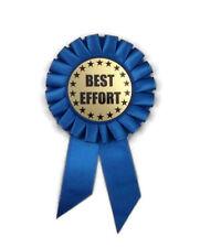 Rosette Ribbon, Best Effort- Award- 6 Inch- Blue- Honor- Identity- Celebrate