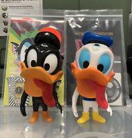Hateball Wolf Duck & DHAF Duck Sofubi Figures Lulubell Grody Shogun Daffy Donald