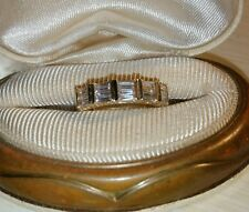 Ross Simons Yellow Gold/Sterling silver Engagement wedding Enhancer Band Ring
