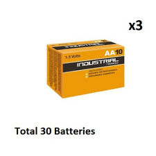 30 x AA Duracell Industrial MN1500 Alkaline 1.5v Batteries for Electronics