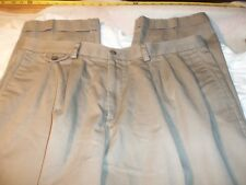 dockers 38 x 29  pleated & cuffs 100% cotton relaxed fit #452
