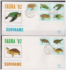 Surinam / Suriname 1982 FDC 58ab Schildpad turtle schildkrote tortue