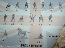 NAPOLEONIC BRITISH INFANTRY. AIRFIX BATTLE OF WATERLOO. 1/72 SCALE