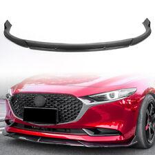 For 2019 2020 Mazda 3 Sedan Axela Front Bumper Lip Body Kit Spoiler Carbon Fiber