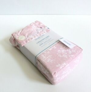 Simply Shabby Chic 2-Piece Pink Rose Slipper Floral Standard Pillowcases