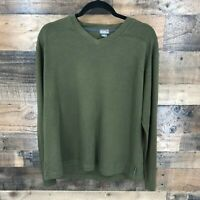 Royal Robbins Men's Green Contemporary Fit Long Sleeve Pullover Top Size L