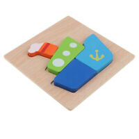 Montessori Wooden 3D Animals Jigsaw Puzzle Board Kids Toys Gift Steamship