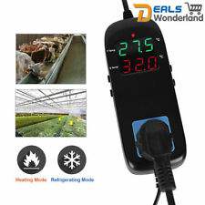 Electronic Thermostat Digital Breeding Temperature Controller w/ Socket EU Plug