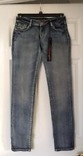 VO Virgin Only Women's Jeans NWT Size 28 Distressed Bling Style Go-30153