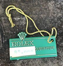 Rolex Submariner VERDE TAG CARTELLINO 1680 5512 5513 5514 Sea-Dweller Doppio Rosso