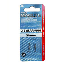 Mini MagLite AA XENON Replacement Lamp, Bulb, 2 pcs