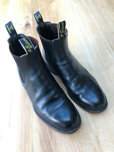 Mens RM Williams Boots - Black - Size 8 1/2