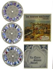 View-master - GAF - ISRAEL LA TERRE SAINTE - 3 disques - 21 photos en relief -