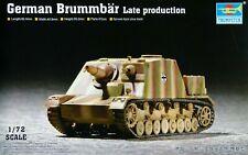 Trumpeter 1:72 German Brummbar Late Production Tank Model Kit (Boîtier Endommagé)