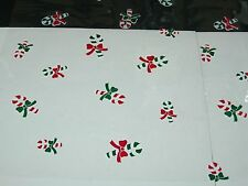 """1 Roll 20"""" x 100' Candy Canes Christmas Designs Clear Cellophane Gift Wrap"""