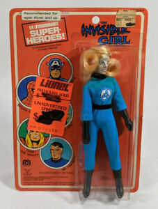 Mego Worlds Greatest Super Heroes Invisible Girl Action Figure - Sealed - French
